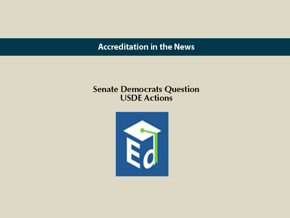 Senate Democrats Question USDE Actions