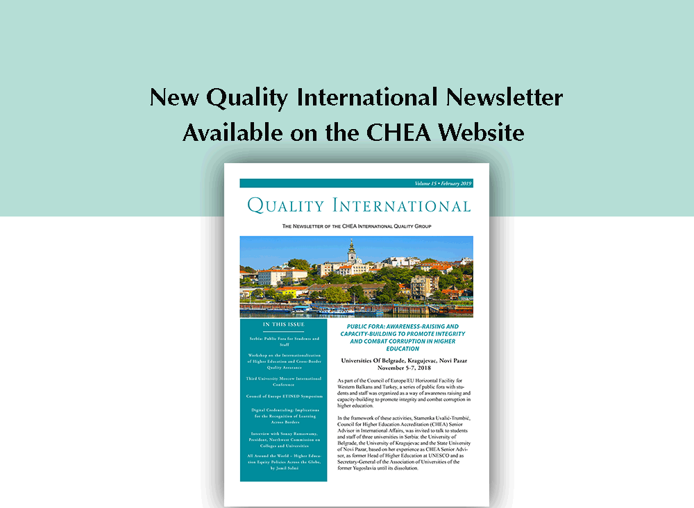 Quality International Newsletter Volume 15