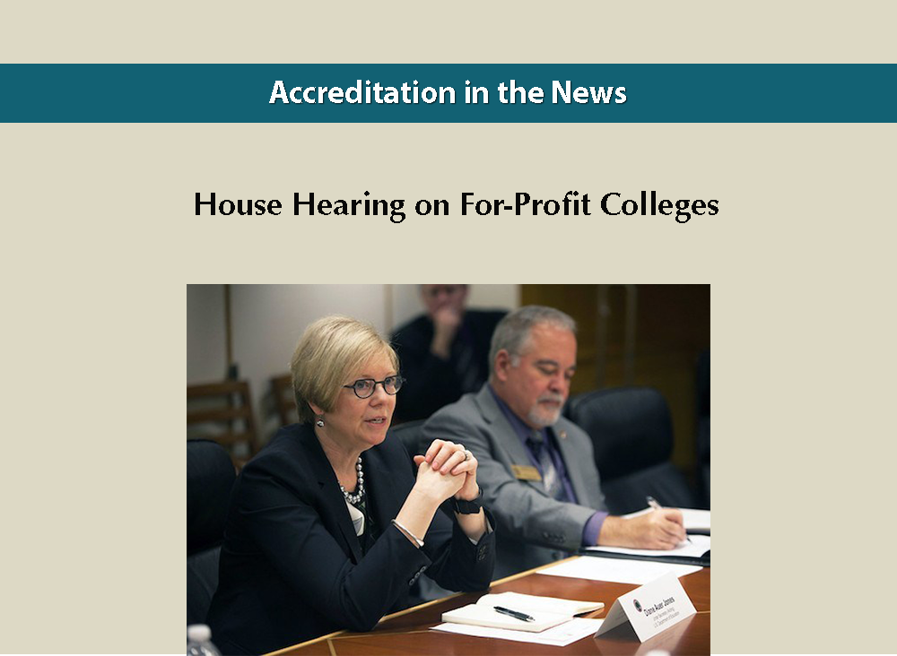 House Hearing on For-Profit Colleges