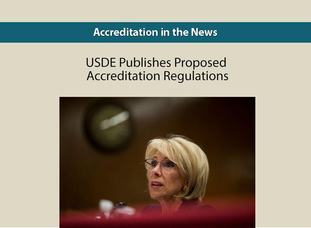 USDE Publishes Proposed Accreditation Regulations