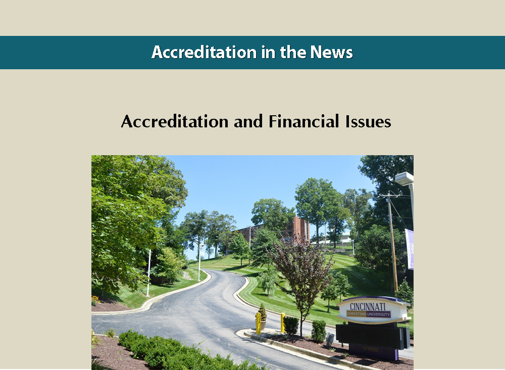 Accreditation and Financial Issues