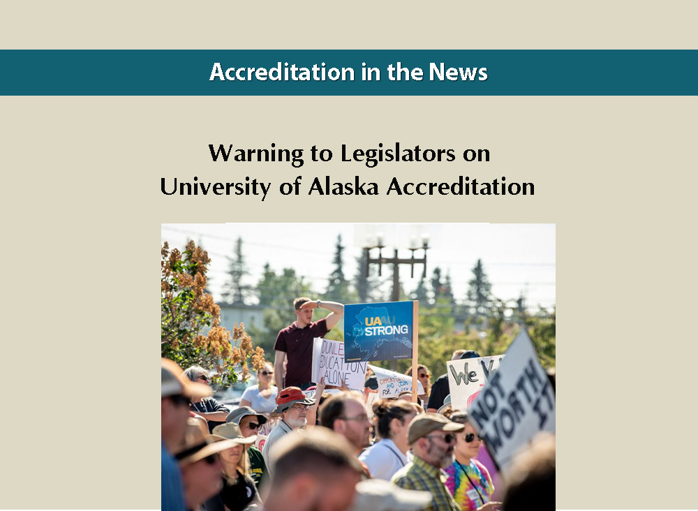 Warning to Legislators on University of Alaska Accreditation