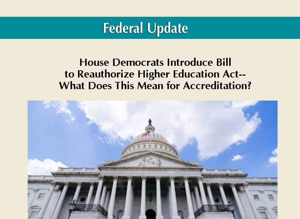 House Democrats Introduce a Bill to Reauthorize the Higher Education Act